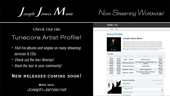 Joseph James Music | Streaming | Tunecore Artist Page