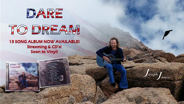 DARE TO DREAM Album | Joseph James | CD's & Vinyl